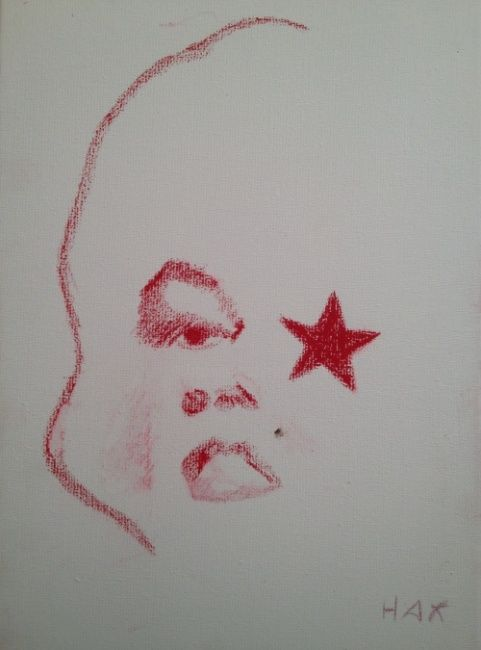 a star is borgne - Painting ©2012 by HAX -