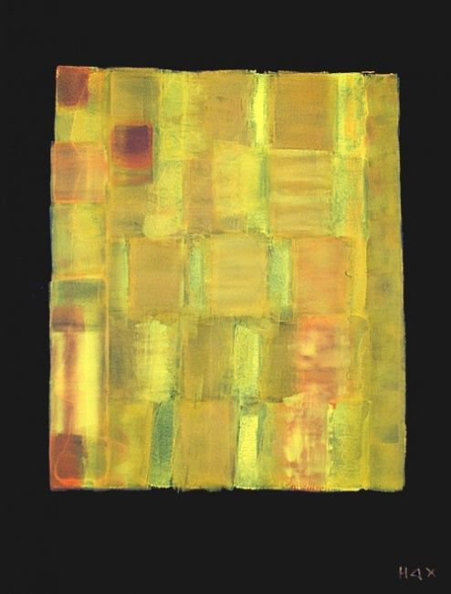 les agrumes - Painting,  51.2x38.2 in, ©2012 by Hax -                                                                                                                          Abstract, abstract-570