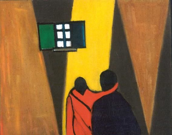 """Painting titled """"Remembering You"""" by Claude Bensimon, Original Art,"""