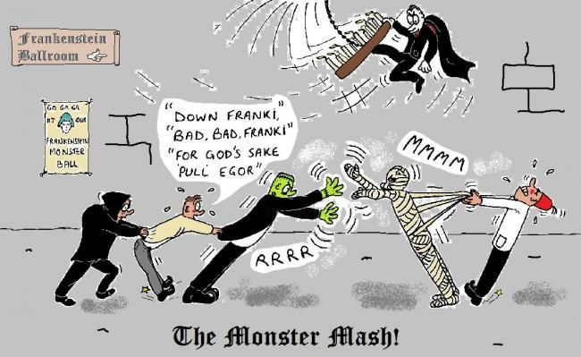 """Painting titled """"''Monster Mash''"""" by Clynton Knight, Original Art,"""