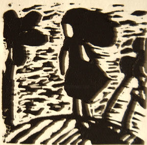 """Printmaking titled """"windy day"""" by Catherine Marche, Original Art, Engraving"""