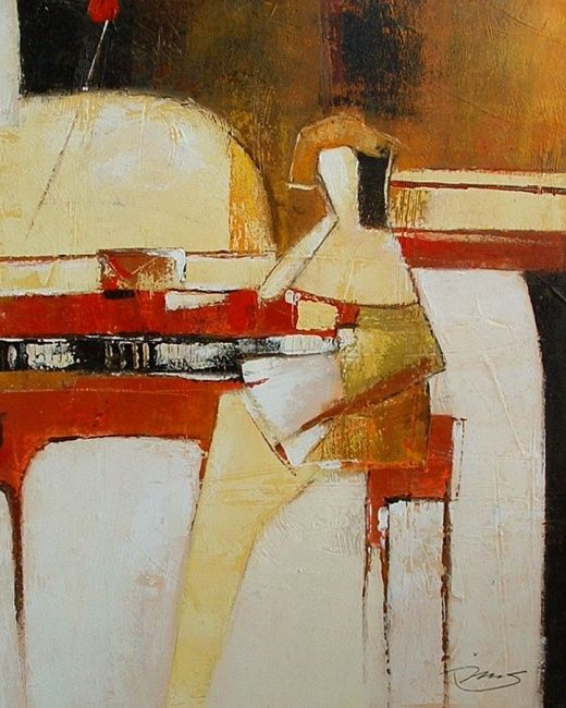 PIANIST - Painting,  80x100 cm ©2011 by Autres Artistes -                            Contemporary painting, PIANO PIANIST