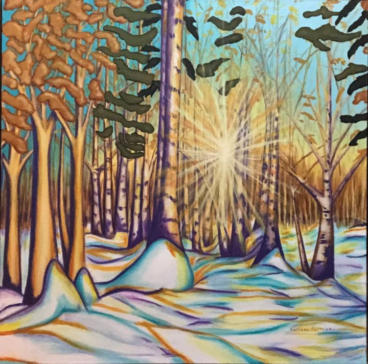 """Painting titled """"Winter Sunrise in K…"""" by Colleen Pattrick, Original Art, Acrylic"""