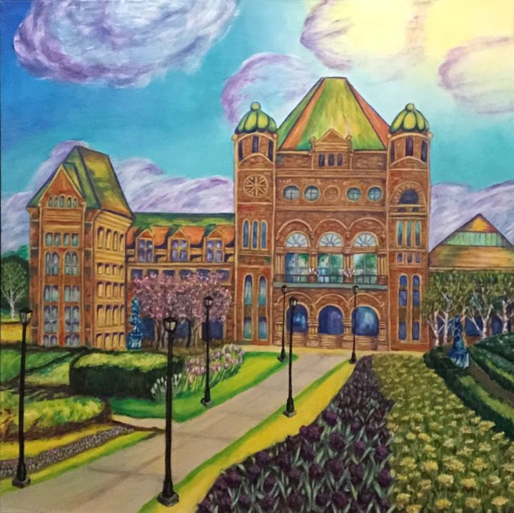 """Painting titled """"Queen's Park"""" by Colleen Pattrick, Original Art, Acrylic"""