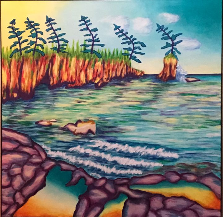 """Painting titled """"North of Superior"""" by Colleen Pattrick, Original Art, Acrylic"""