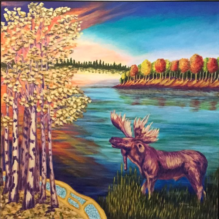 """Painting titled """"Autumn in Sunset Co…"""" by Colleen Pattrick, Original Art, Acrylic"""