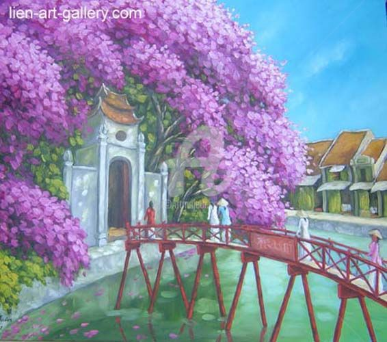 """Painting titled """"Hanoi landscape  Or…"""" by Cong Quoc Thang, Original Art, Other"""