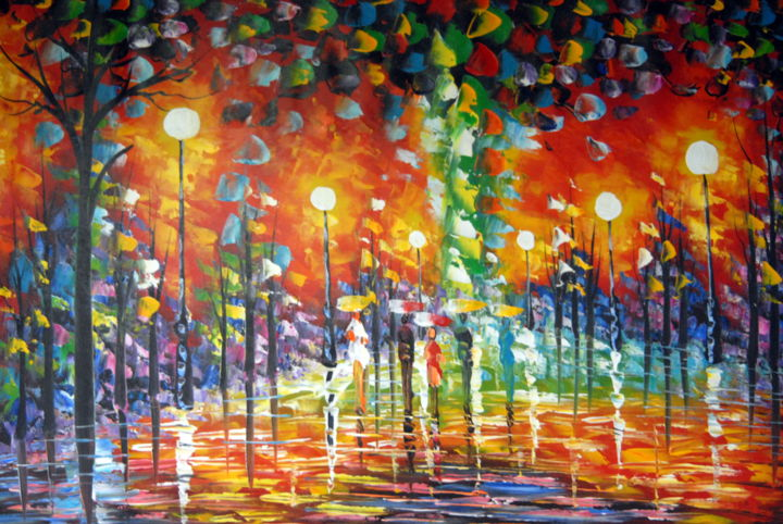 Walk In The Park Large Oil Painting Painting By Conrad