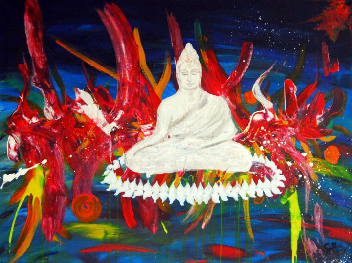 Holy moly serenity (KR) - © 2019 asian buddha, thailand, abstract art, art in paris, art in london, contemporary painting Online Artworks
