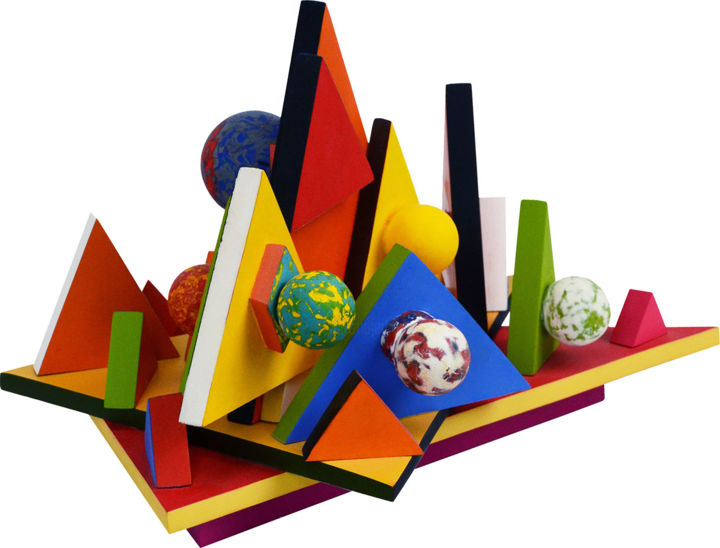 Triangles aux boules - © 2011 gael chandelier, artisant d'art Online Artworks