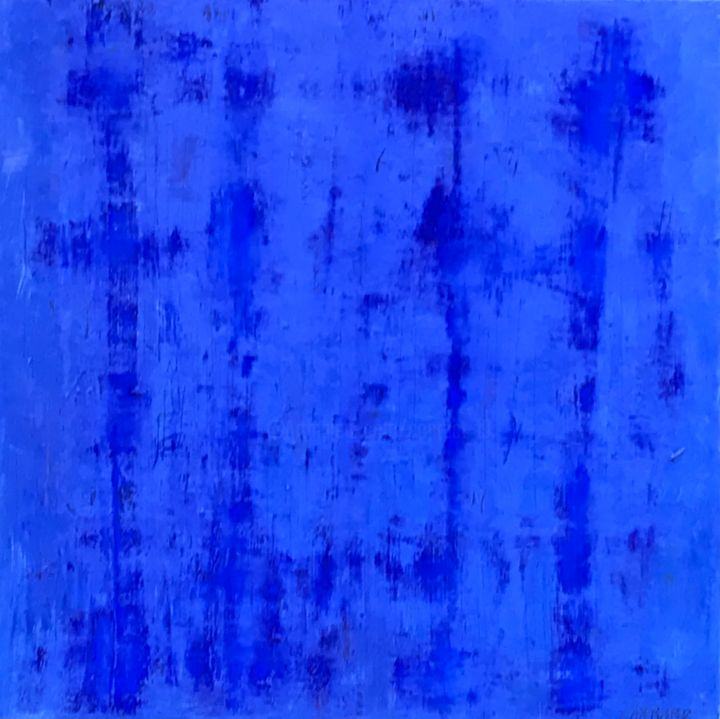 """Painting titled """"Blue note"""" by Paul Carrard, Original Art, Oil"""