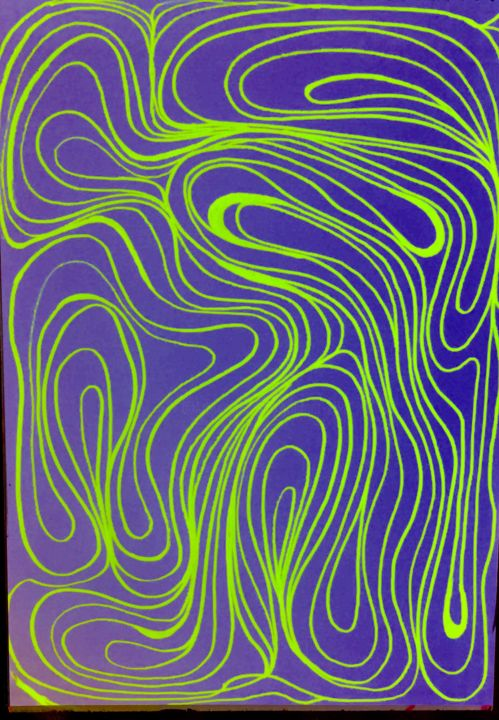 """Drawing titled """"Motion 1"""" by Greg Powell, Original Art, Marker"""
