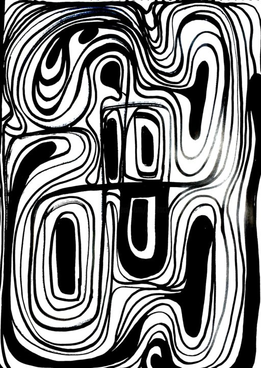 """Drawing titled """"No way out"""" by Greg Powell, Original Art, Marker"""