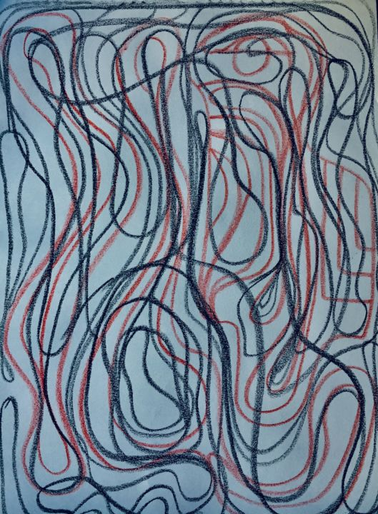 """Drawing titled """"Forms in colors 2"""" by Greg Powell, Original Art, Marker"""