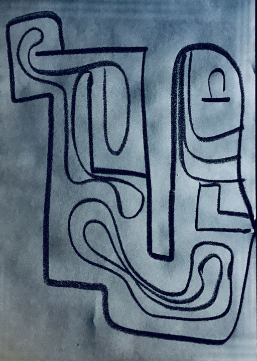 """Drawing titled """"Smiley"""" by Greg Powell, Original Art, Spray paint"""