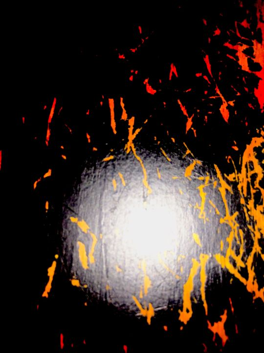 """Photography titled """"Burning sphere"""" by Greg Powell, Original Art, Digital Photography"""