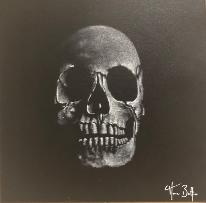 """Painting titled """"Marc Boffin - Skull"""" by Victoria P, Original Art, Acrylic"""