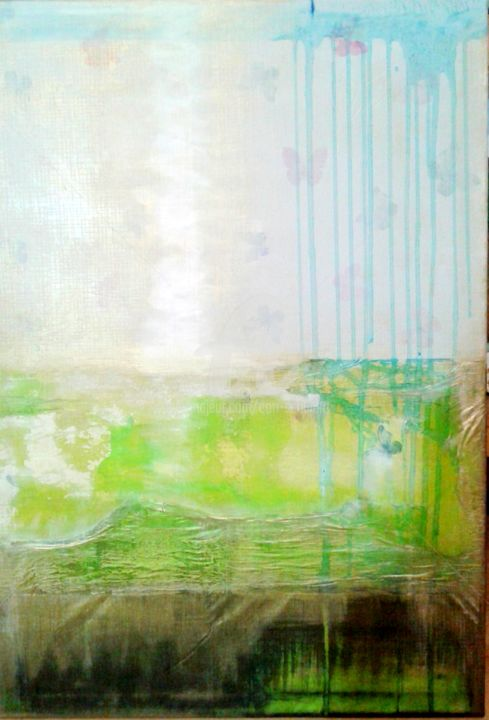 tischtuchmalerei - Painting,  39.4x27.6 in, ©2017 by CORI  SCHUBERT -                                                                                                                          Abstract, abstract-570