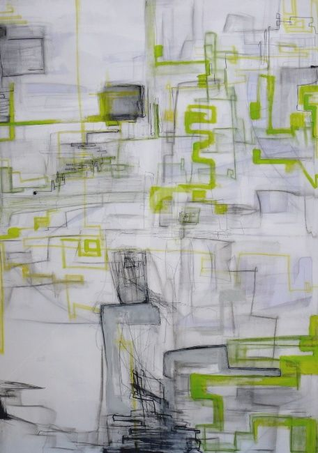 mäander live - Painting,  220x125 cm ©2011 by CORI  SCHUBERT -                            Contemporary painting, painting on canvas