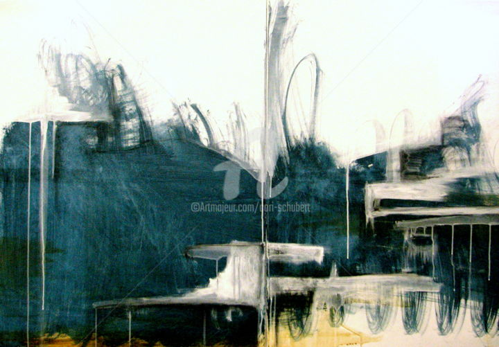 ohne titel - Painting ©2012 by CORI  SCHUBERT -                                                            Abstract Art, Canvas, Abstract Art, organic, town, abstract