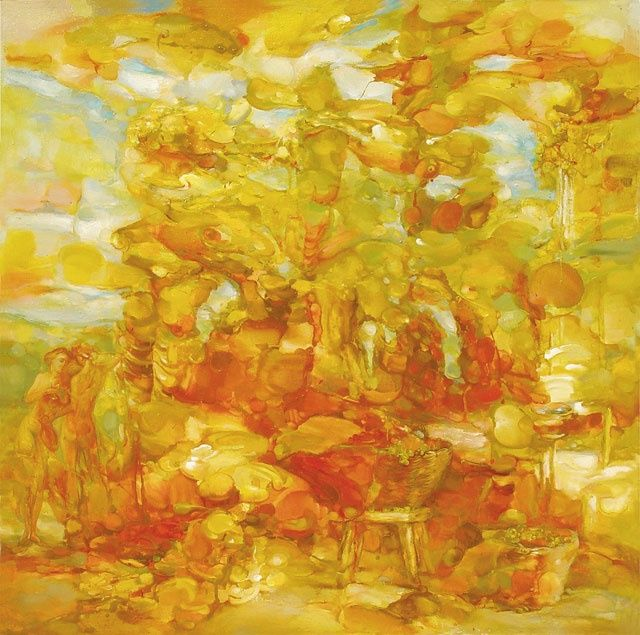 """Painting titled """"Autumnal"""" by Vitalie Coroban, Original Art,"""