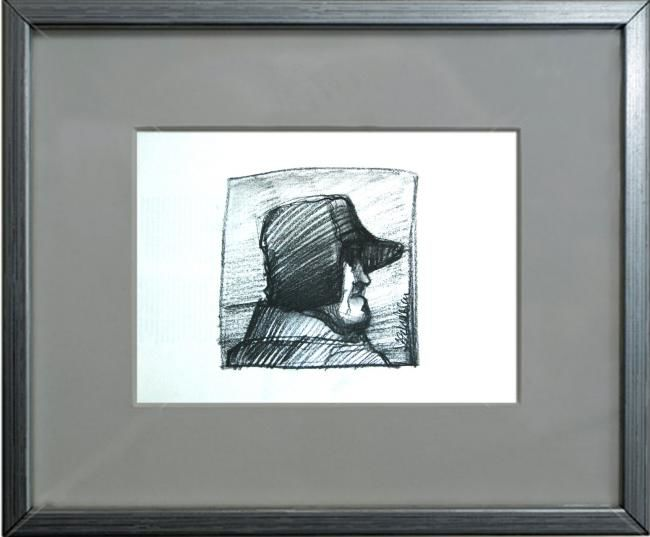 """Drawing titled """"old man portrait wi…"""" by Cosmin Tudor Sirbulescu, Original Art, Graphite"""