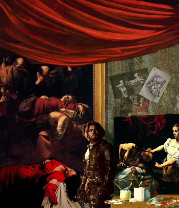 """Painting titled """"CARAVAGGIO 2"""" by Costantino Renzo, Original Art, Oil"""