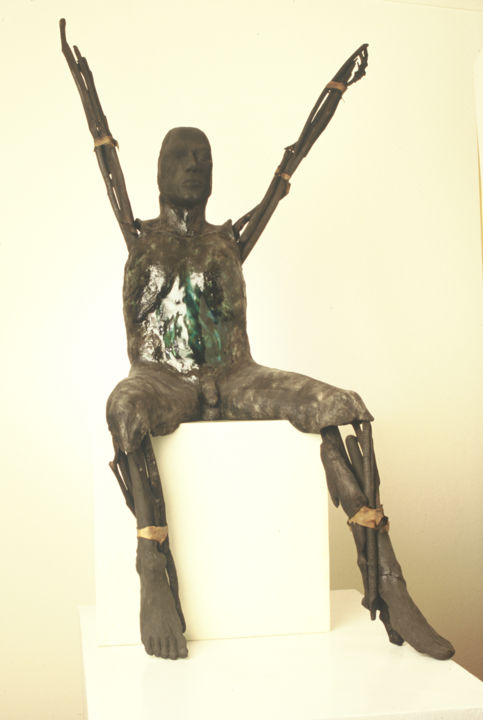 """Sculpture titled """"Offering"""" by Suzanne Waters, Original Art,"""