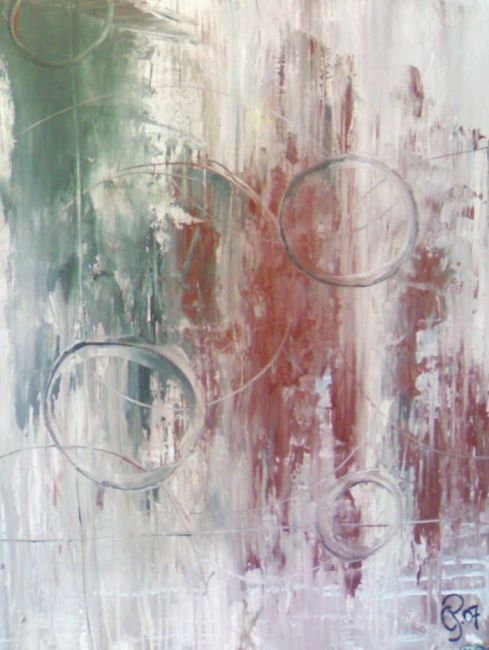 """Painting titled """"""""Round"""""""" by Cpdesign, Original Art,"""