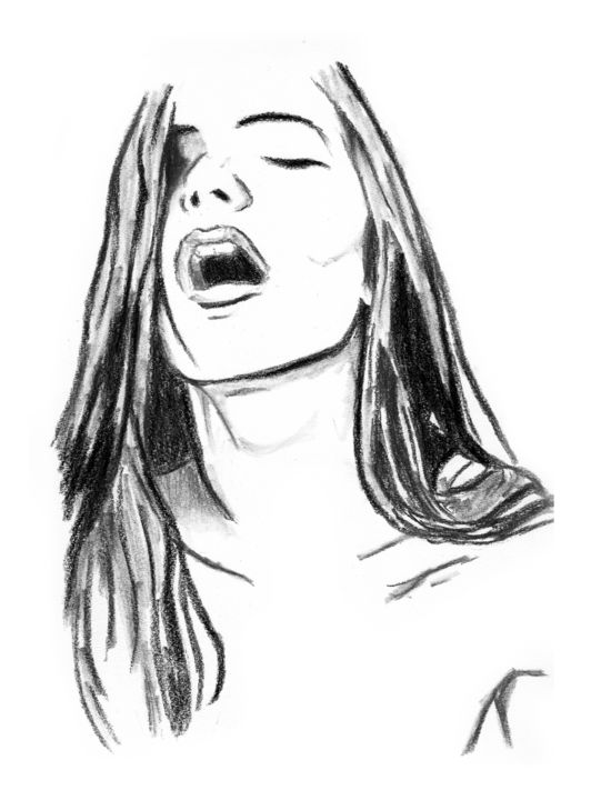 Moaning female jpg drawing 14x11 in 2017 by creations of a r t