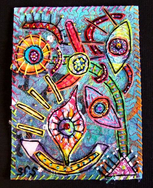 """Collages titled """"Octopus Garden 1"""" by Creative Chick, Original Art,"""