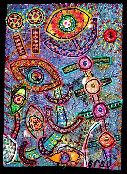 """Collages titled """"Octopus Garden 5"""" by Creative Chick, Original Art,"""