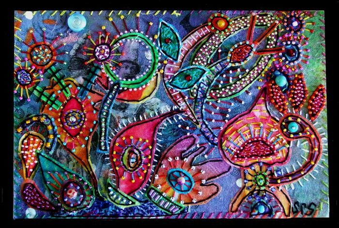 """Collages titled """"Octopus Garden 6"""" by Creative Chick, Original Art,"""