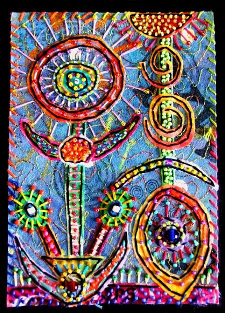 """Collages titled """"Octopus Garden 7"""" by Creative Chick, Original Art,"""