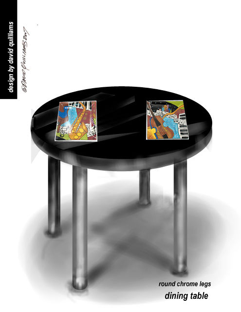 """Digital Arts titled """"dinette_table_or_ac…"""" by David Quilliams, Original Art,"""