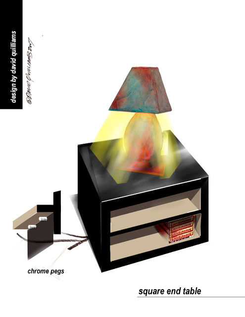 """Digital Arts titled """"Square_end_table_co…"""" by David Quilliams, Original Art,"""