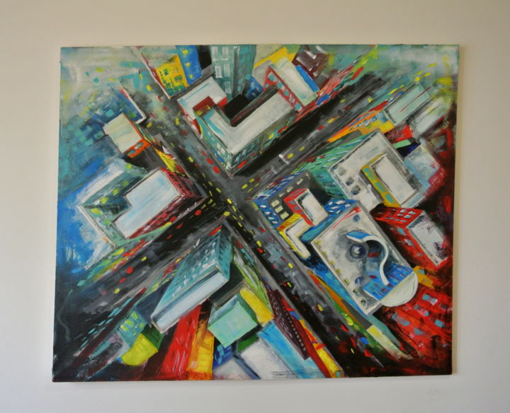 The City Painting By Cristina Gavanescu Artmajeur