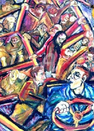 El Colectivo - Painting,  39.4x39.4 in, ©2007 by Cristina Vidal -