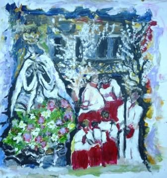 Dia de la Virgen - madrid Ayuntamiento - Painting ©2009 by Cristina Vidal -