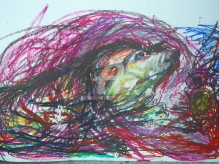 Dolor y Rabia - Painting ©2010 by Cristina Vidal -