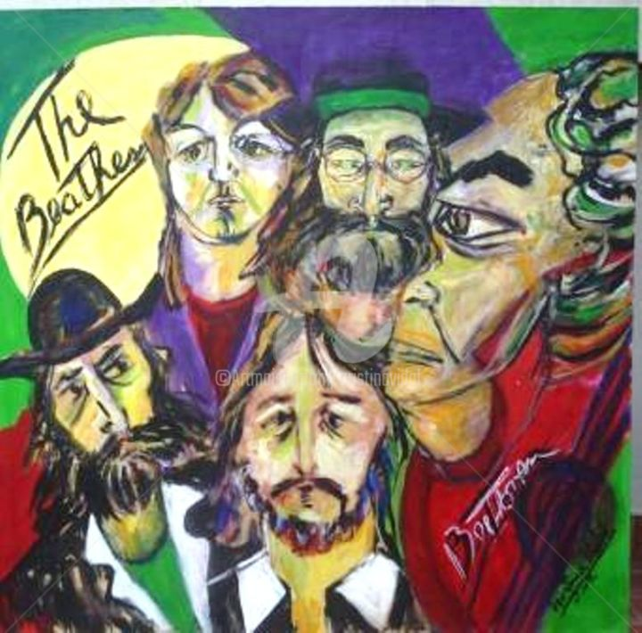 """ The Beatles and Beethoven "" - Painting ©2016 by Cristina Vidal -"