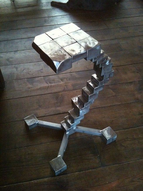 stool staircase - Sculpture, ©2012 by Cristo Ash -                                                                                                          tabouret design, tabouret inox