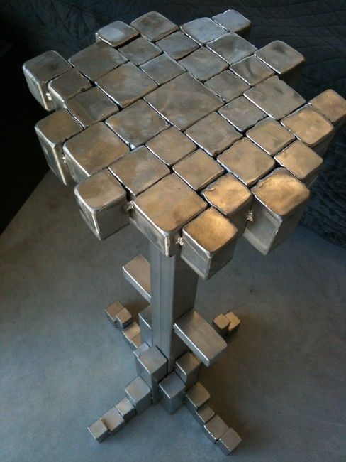 stool tower - Sculpture,  0.4 in, ©2012 by Cristo Ash -