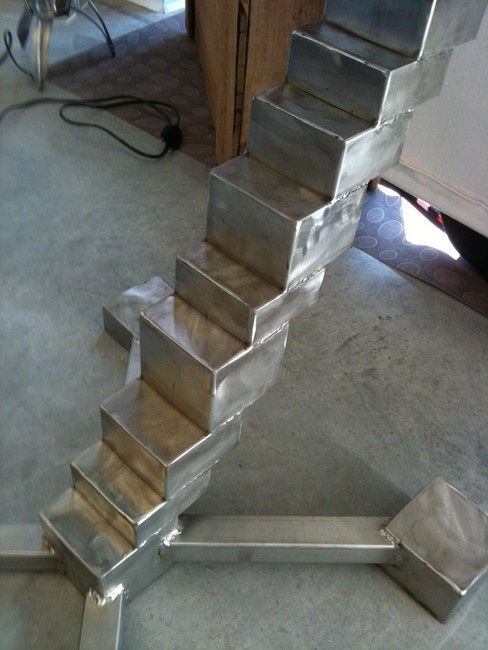 stool staircase - Sculpture,  0.4 in, ©2012 by Cristo Ash -