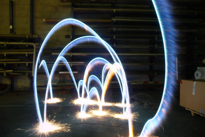 Flame effect - Photography, ©2014 by Cristo Ash -                                                                                                          light painting, flamme