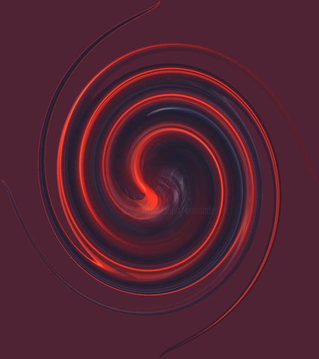 artm-247-spiral.jpg - Digital Arts ©2019 by Ro Model -                                                            Abstract Art, Other, Abstract Art, ESPIRAL, ROJO
