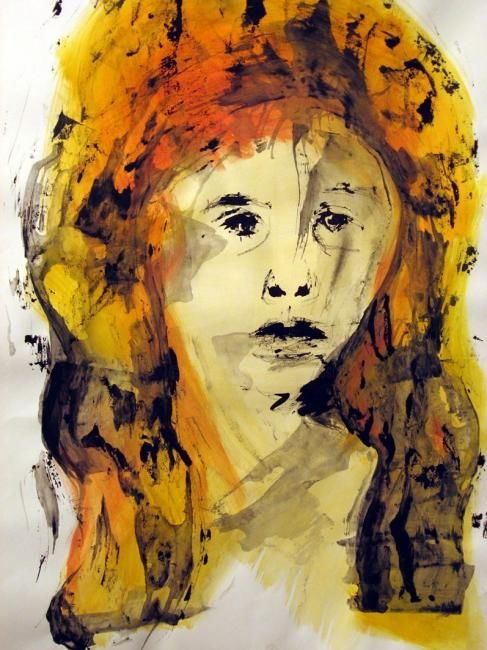 Portrait: Rudenskold #6 - Painting,  27.6x19.7 in, ©2008 by Catherine Rogers Jonsson -                                                              portrait