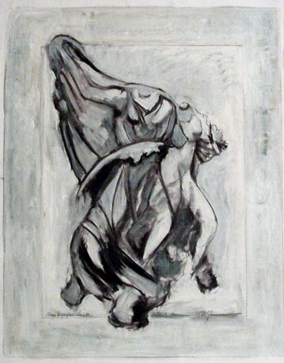 Greek Goddesses - Painting,  60x50 cm ©2005 by Catherine Rogers Jonsson -