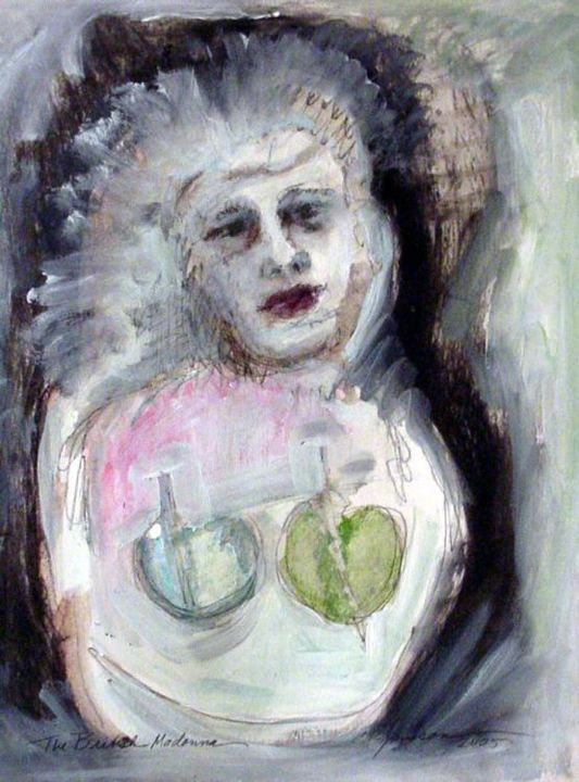 British Madonna - Painting,  40x30 cm ©2005 by Catherine Rogers Jonsson -