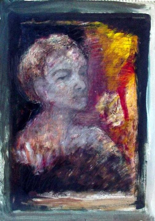 Portrait - Painting,  24x18 in ©2006 by Catherine Rogers Jonsson -            mixed media, expressionism